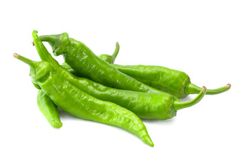 Green fresh chili pepper