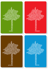 four seasons trees of words