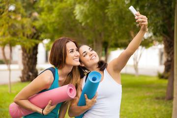 Selfie before yoga practice
