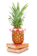 Funny pineapple in sunglasses