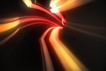 Red vortex with orange light