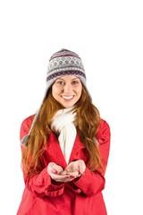 Pretty redhead in warm clothing