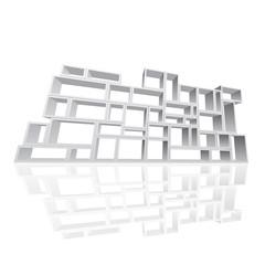 Vector modular shelving 3d