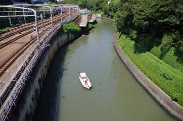 都心の川と舟