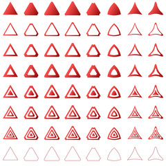 Red triangle set