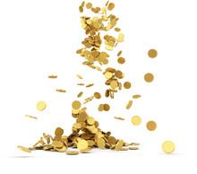 Spada złote monety samodzielnie