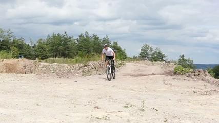Handicapped mountain bike rider