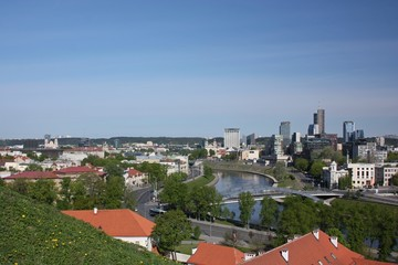 Panorama of Vilnius from the Castle Hill. Lithuania