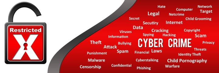 Cyber Crime Keywords Horizontal