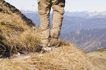 Österreich, Salzburger Land , Person zu Fuß auf einem Wanderweg