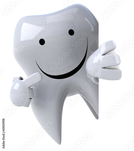 canvas print picture Fun tooth