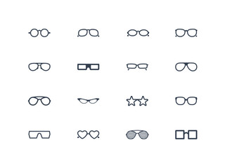 Eye glasses icons