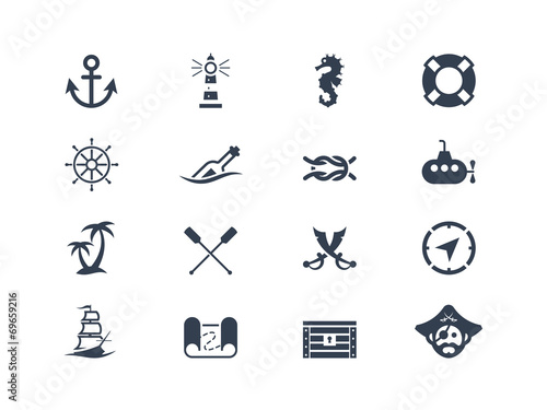 Marine and nautical icons - 69659216