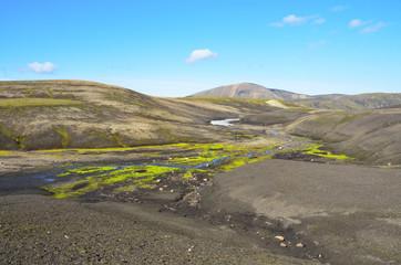 Исландия, Ландманналёйгар, горный пейзвж