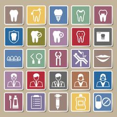 Dental icons Sticker set