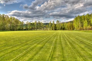 Fußballplatz Natur HDR