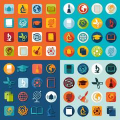 Set of education icons