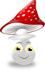 Toadstool with face