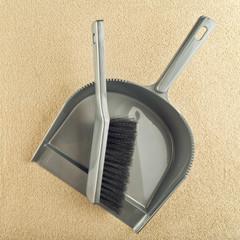 Dustpan and brush floor sweeper