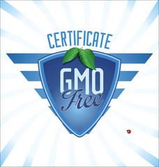 GMO free certificate background