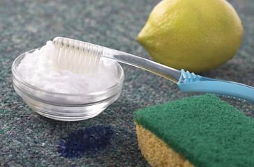 Nettoyant onaturel., citron et de bicarbonate de sodium.