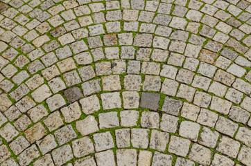 cobblestone tiled