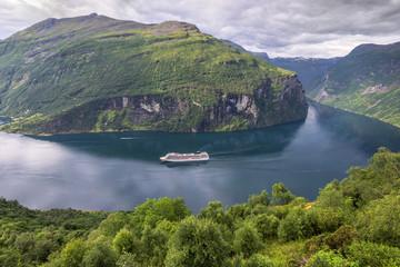 Krajobraz wiejski, Norwegia, Geiranger Fiord