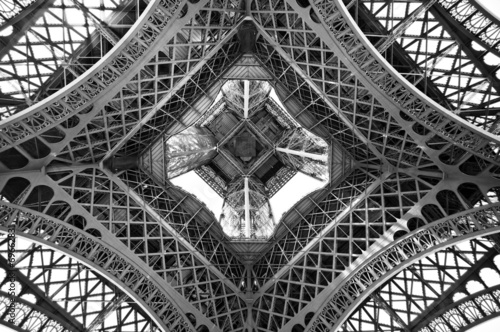 The Eiffel tower, view from below, Paris, France - 69662831