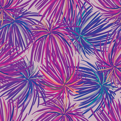 Seamless Repeating Pattern with Violet Flowers