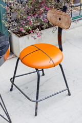 Elegant orange chair