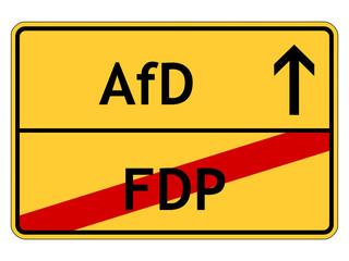 Schild: Alternative für Deutschland (AfD)
