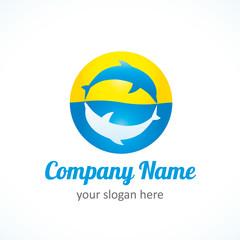 dolphin sun logo