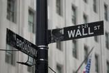 Fototapety New York City Wall Street sign