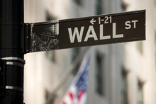 Fotomurales - New York City Wall Street sign