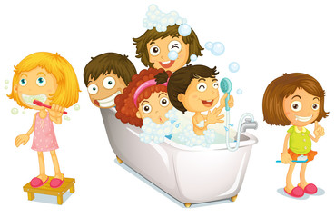 Children and bath