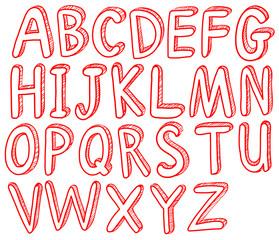 Red alphabets