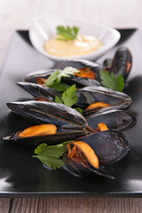 boiled mussel