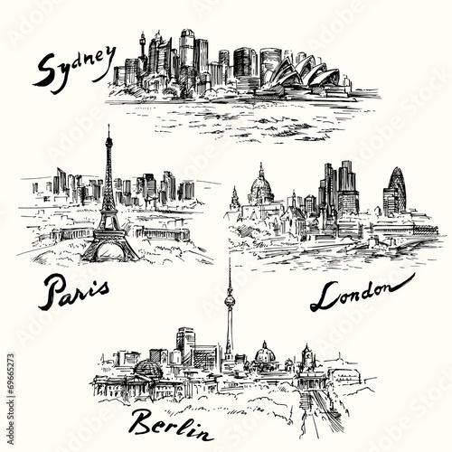 Paris, Berlin, London, Sydney - 69665273