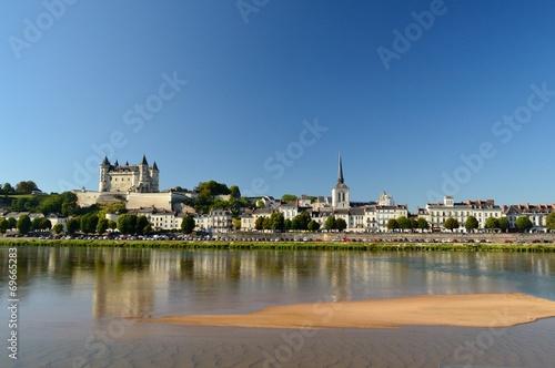 Papiers peints Chateau Saumur et son château