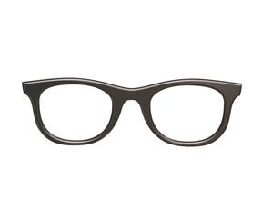 black vintage sun glasses isolated on white