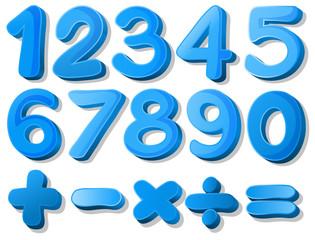 Blue number
