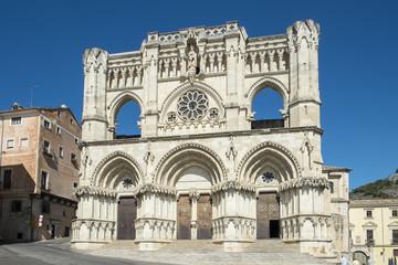 Fachada de la catedral de Cuenca en Castilla la Mancha España
