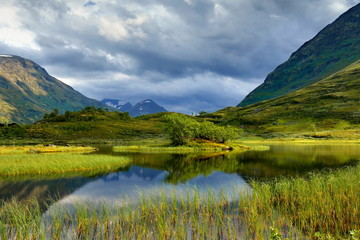 Krajobraz wiejski, Norwegia