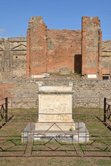 Altar in Temple of Vespasian, Pompeii