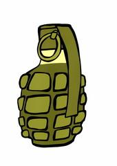 doodle hand grenade