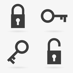 Key and lock icon