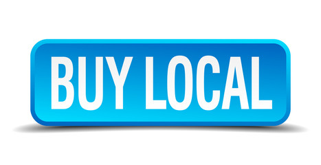 buy local blue 3d realistic square isolated button
