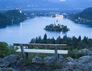 Bled Lake in Julian Alps, Slovenia