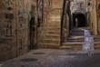 Narrow street in Jewish Quarter Jerusalem