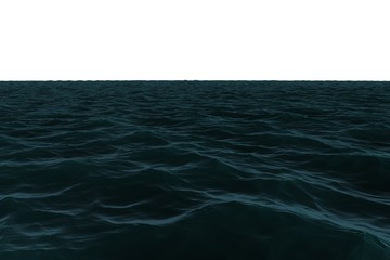 Digitally generated Still blue sea